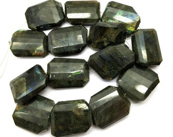 Super Quality Natural Labradorite Loose Beads 21x19-24x18 mm Girls Her MKU14 GF Rectangle /& Faceted 12 Inch Long for Wife