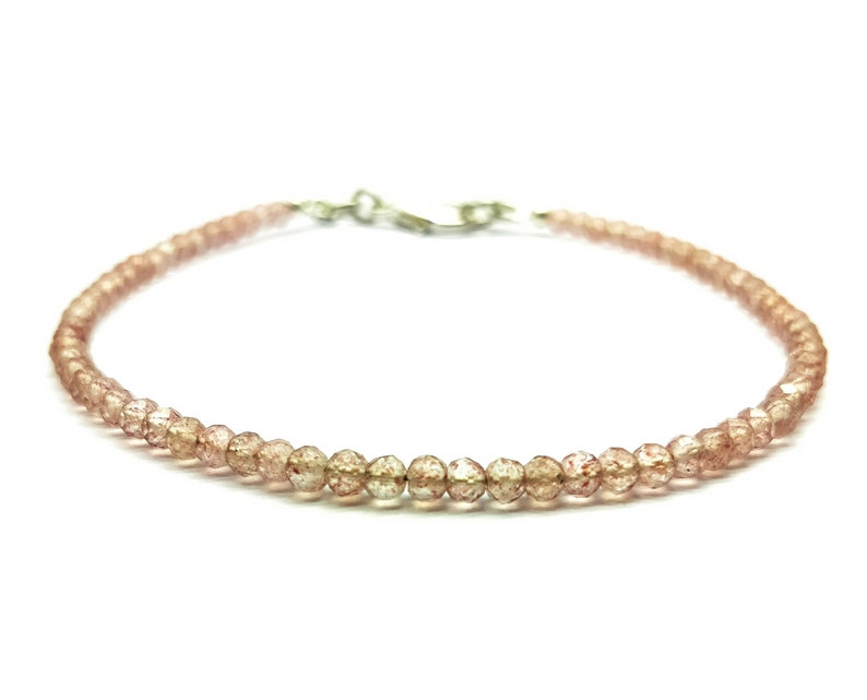 chakra 7 Inch Long BR110 holidays AAA+++ Super Quality Handmade Bracelet Pink Rutile 3 mm Rondelle Faceted Healing Gemstone energy