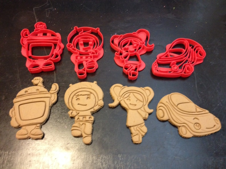c6e8b12480af Team Umizoomi Cookie Cutters - Geo, Milli, Bot, and Umicar. All 4 in this  set. Great for your kid's Umi theme birthday party. Play-Doh