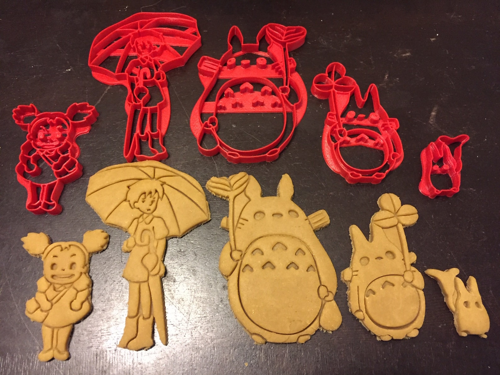 Totoro Cookie Cutters 5 Pack. Perfect for your kid's Totoro theme birthday party or any celebration. My Neighbor Totoro. Mei, Satsuki, chibi