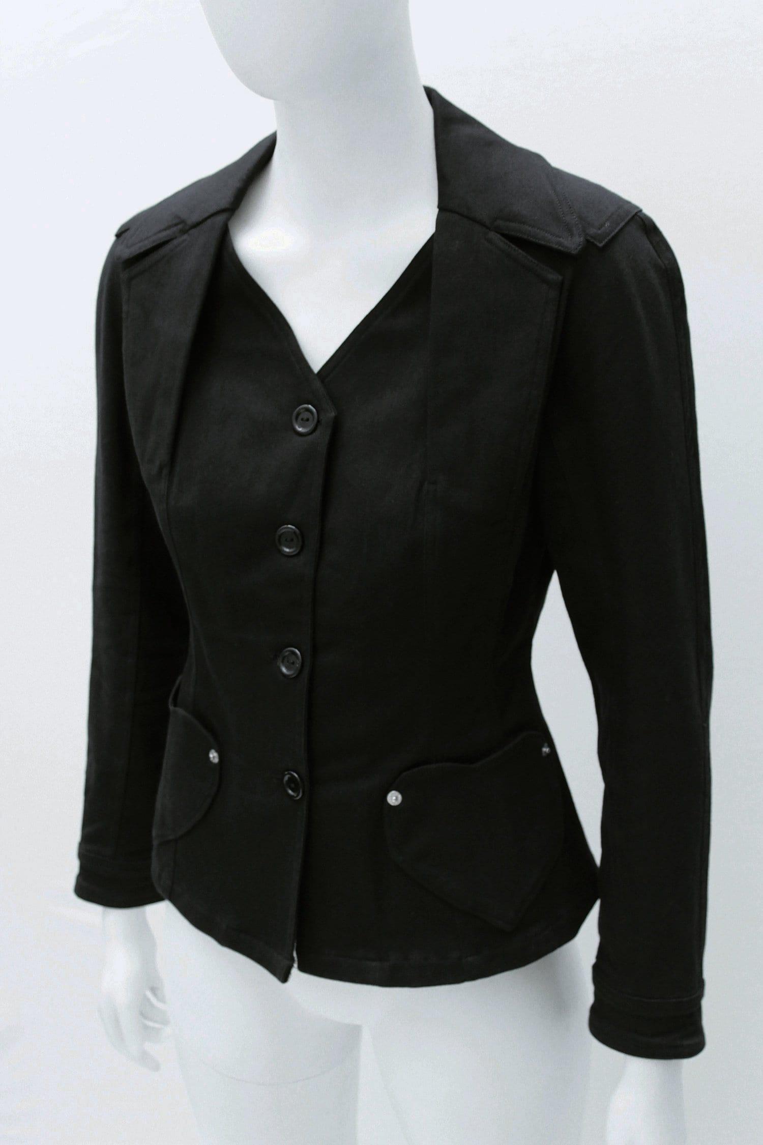 Boutique CHRISTIAN DIOR par John Galliano Jean veste avec poches en forme  de coeur. Taille 40 083d1f4656e