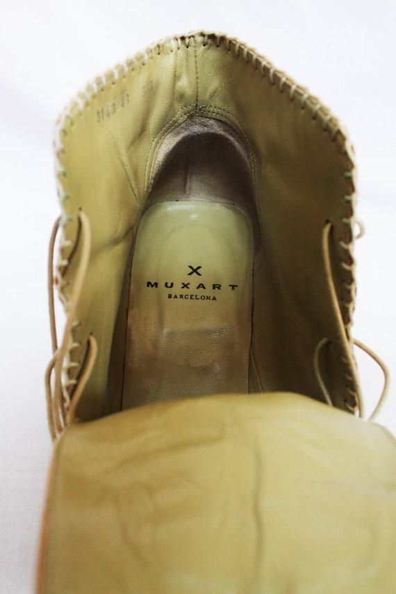 MUXART Barcelona 1990's Leather Ankle Boots - image 4