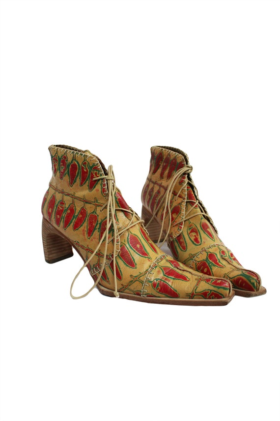 MUXART Barcelona 1990's Leather Ankle Boots - image 3