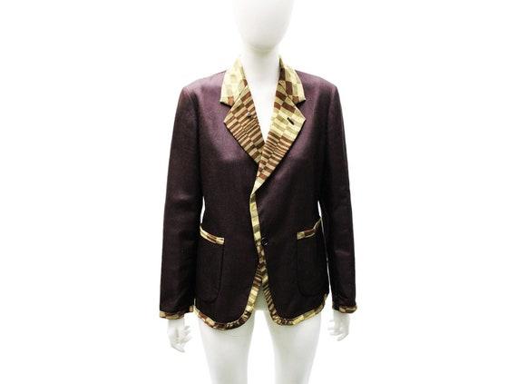 COMME DES GARÇONS AD2000 Chessboard Suit Jacket