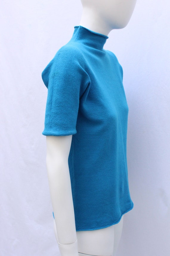 Issey Miyake Haat Blue Top by Etsy