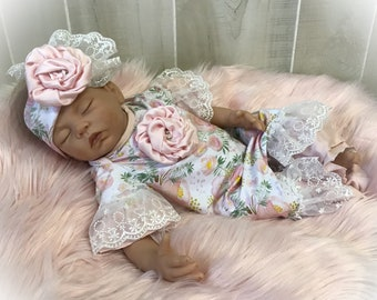 New to the Tribe Newborn Baby Gown SetLayetteWhiteGownBaby Shower GiftNewborn GownBaby GownBaby LayetteCap