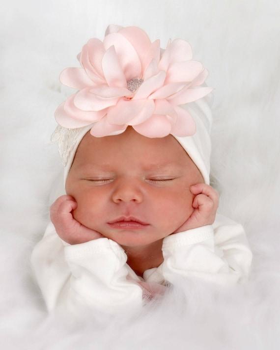 3333e6125 Newborn Girl Hat Baby Hospital Hat Unique Baby Gift Baby | Etsy
