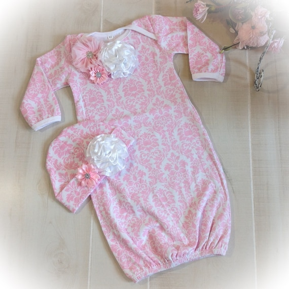 Newborn Girl Hospital Outfit Newborn Girl Layette Gown Baby