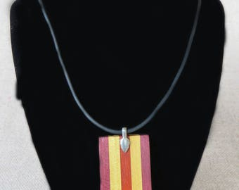 Amaranth, padauk - Necklace of amaranth, pau amarillo and padauk and pau Amarillo necklace