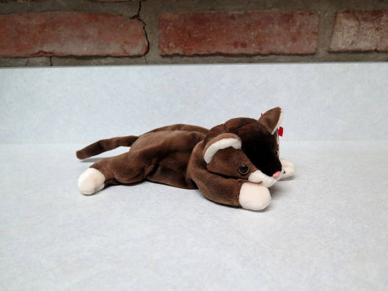 e991eb65d03 Vintage Beanie Baby TY Pounce the Cat Plush Toy Stuffed Animal