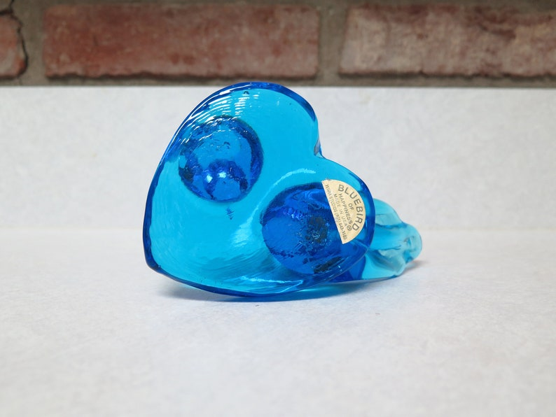 Blue Birds of Happiness, Arkansas Blue Glass Birds, 1994, Lee Ward Blue  Birds, Heart Hand Blown Glass Decorative Lee Ward Collectible