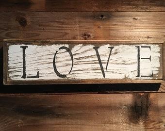 Message/quote board - rustic/love/white