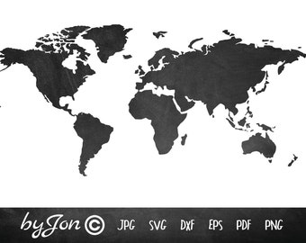 World map silhouette etsy dxf svg world map vector file digital cutting file laser cuttemplate silhouette cricut laser vinyl byjon instant download gumiabroncs Images