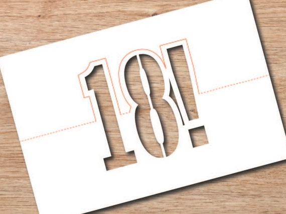 Byjon Download Folding 18th Birthday Card Svg Vector File Or Etsy