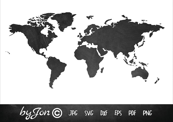 Dxf svg world map vector file digital cutting file laser etsy image 0 gumiabroncs Choice Image