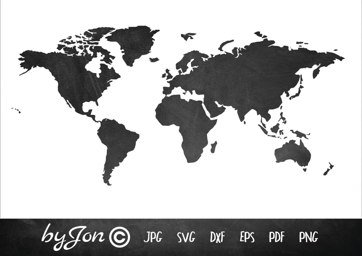 World Map Watermark.World Map Instant Download Cutting File For Silhouette Etsy