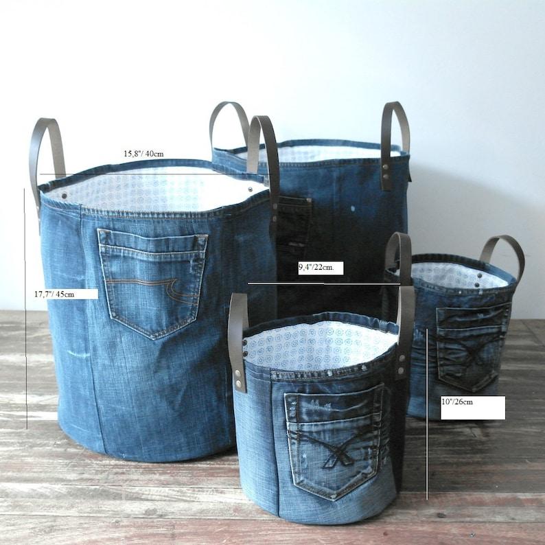 storage bags denim bag storage bag baby gift home decor toy bin jeans toys storage denim storage bags
