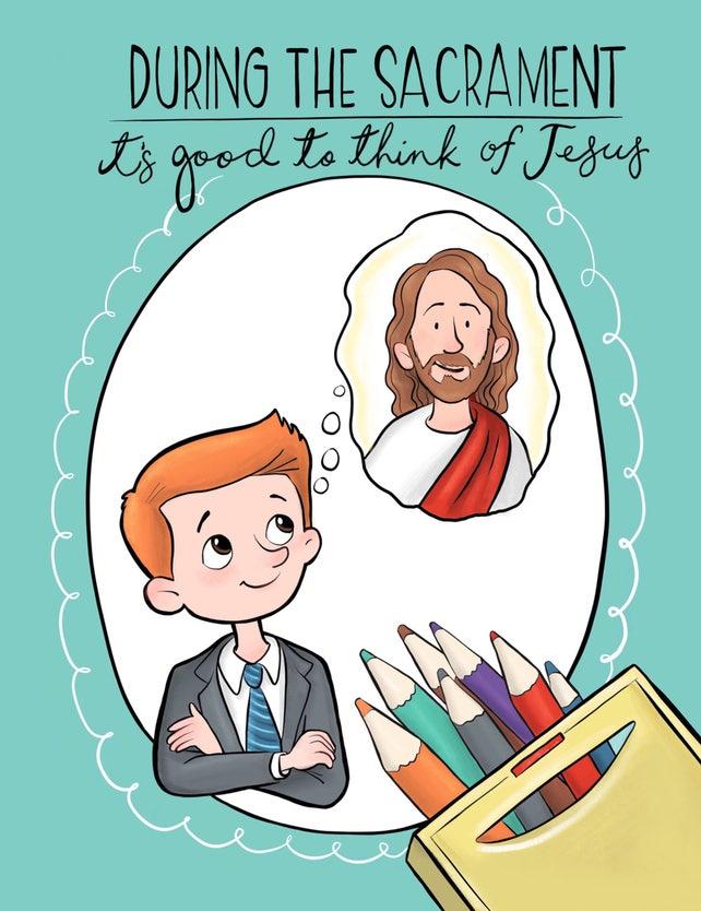 LDS libro para colorear durante el Sacramento es bueno | Etsy