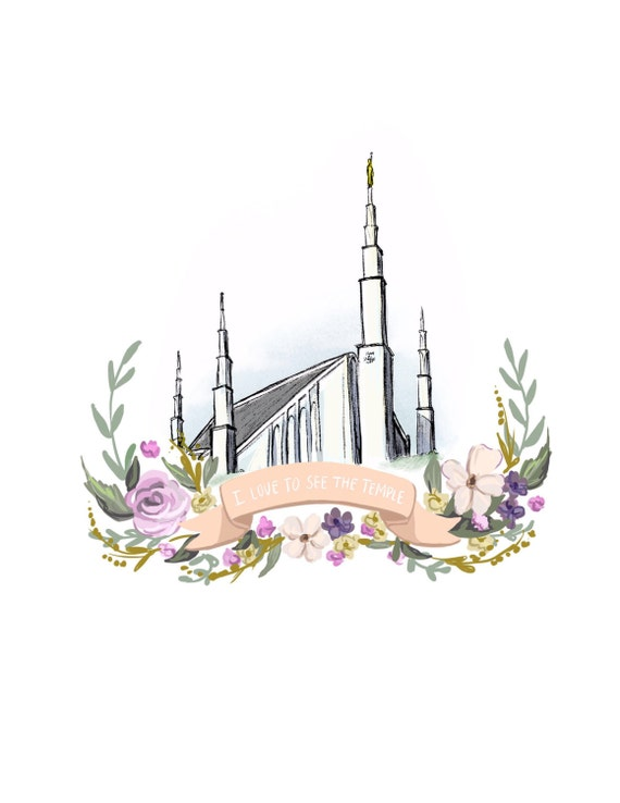 LDS Dallas temple I love to see the temple Mormon art young