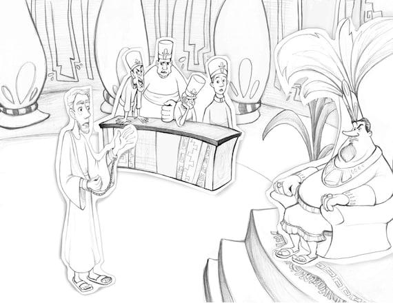 Libro de Mormón Abinadí para colorear página ayuda a la