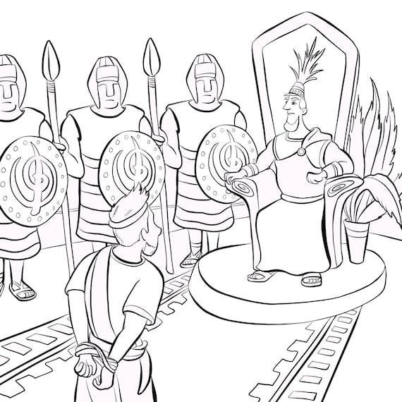 LDS libro para colorear ayuda de la historia de Amón libro | Etsy