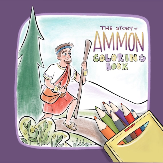 LDS libro para colorear ayuda de la historia de Amón libro