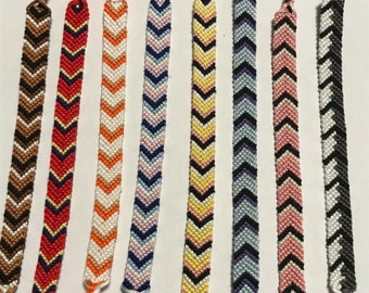 Handmade BT21 BTS Kpop Theme Woven Fandom Chevron Friendship Bracelets, BTS Bracelets, Chimmy, Cooky, Tata, RJ, Van, Koya, Mang, Shooky