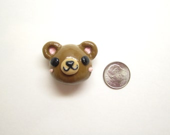 Cute Bear Magnet, Kawaii Teddy Bear Magnet, Polymer Clay