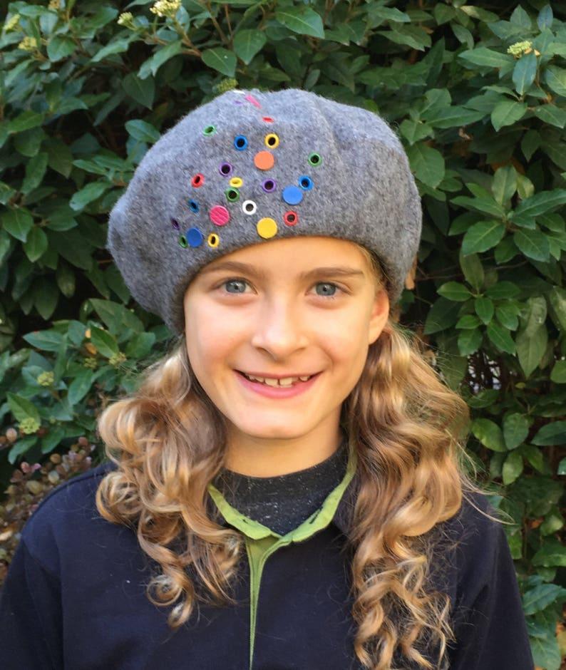 e67b4d7523228 Grey beret light grey French wool beret soft AutumnWinter