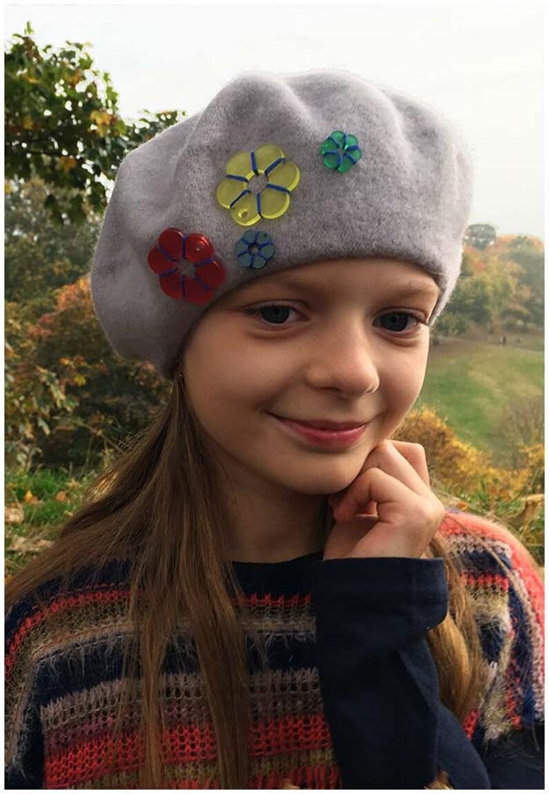 f94605782d588 Sweet girl beretFrench fuchsia pink wool beret soft
