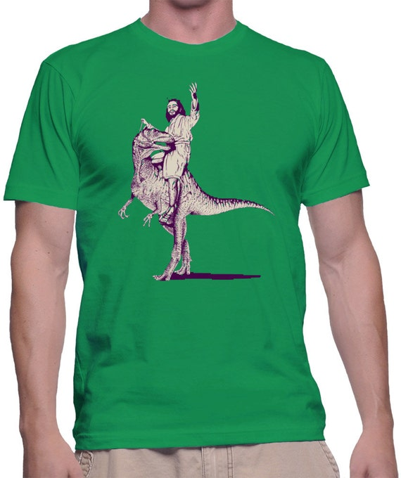 Jesús Lizard camiseta Shirt Jesús lagarto camiseta dinosaurio  ea3687611a4ad