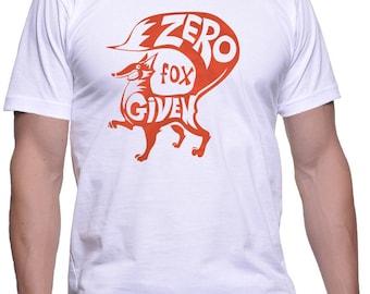 Zero Fox Given T-Shirt Fox Shirt Look At How Many I Give Shirt Animal Shirt Funny T-Shirt Joke Shirt Gag Gift Joke Gift Birthday Gift