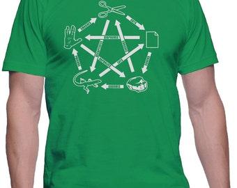 Rock Paper Scissors Lizard Spock T-Shirt The Big Bang Theory Shirt Sheldon Cooper TShirt Nerd Shirt Geek Shirt Gift For Boyfriend Girlfriend