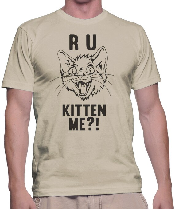 are You Kitten Me Birthday Gift for Her Funny T-Shirt are You Kidding Me Funny Graphic Tee Gifts for Him