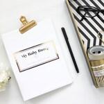 My Baby Bump (Gold Foil) Pregnancy Journal