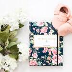 Vintage Floral  (Navy) Pregnancy Journal