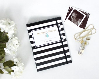 Classic Black and White Pregnancy Journal