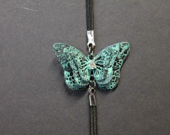 Vintage Distressed Metal Butterfly Book Band