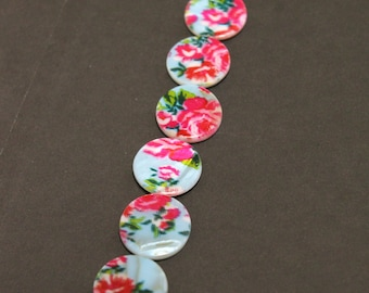 Vintage Rose Shell Discs Book Band