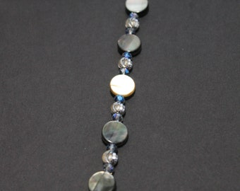 Shell Discs and Silver Bead Strand Bookmark