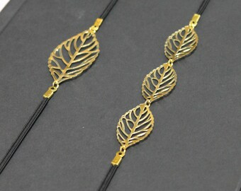 Gold Leaves Bookmark