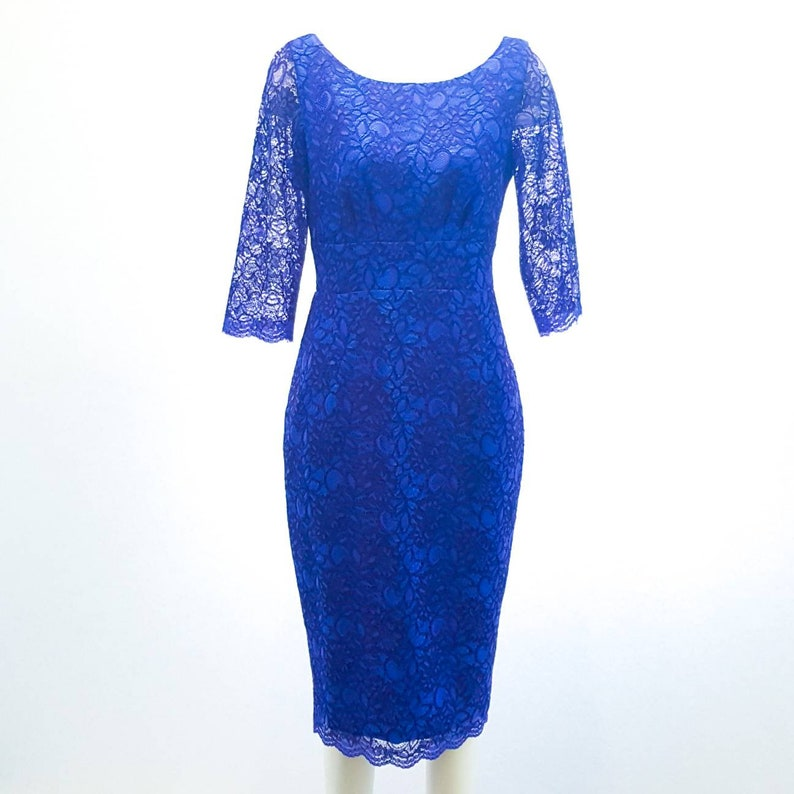 7d01a3b9356 50 style lace pencil dress wiggle dress cobalt blue dress