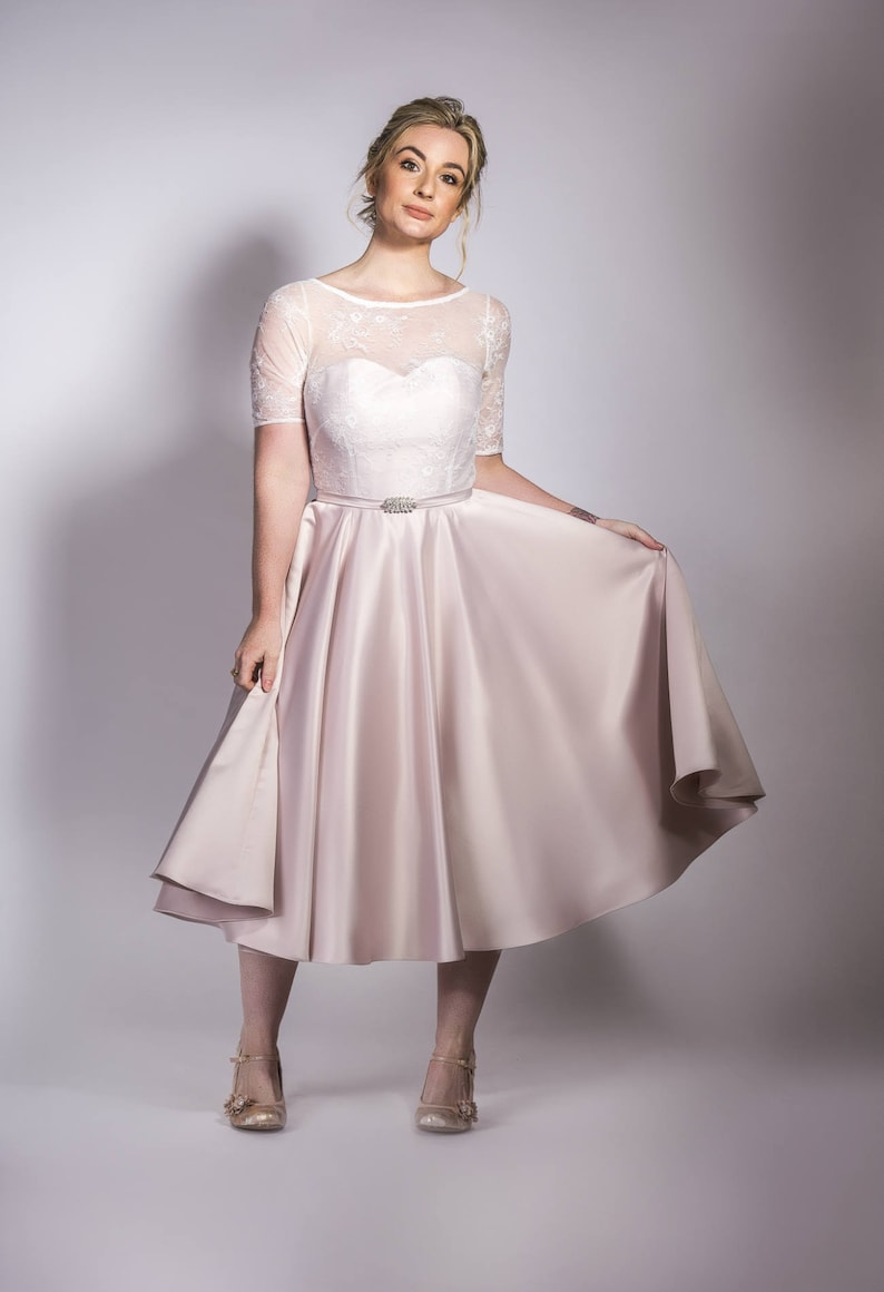 1950s Style Clothing & Fashion Helen 1950s special occasion dress cocktail dress prom dress bridesmaid dress wedding dress $478.12 AT vintagedancer.com