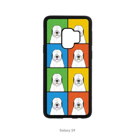 Old English Sheepdog Cartoon Pop Art Case Iphone 11 X Xs Xr 8 7 6 6s 5 Se Galaxy S10 S9 S8 S7 S6 S5 Pro Max Edge Plus Rubber Bumper