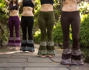 Flare Boho Hippy full length tights, pants