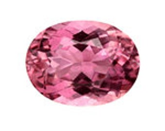7x5 mm Oval Pink Tourmaline in AAA grade