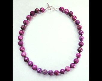 """Beautiful 18"""" Large 12mm Sugilite Bead Necklace! Over 440 Carats!"""
