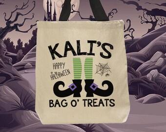 Trick or Treat Bag, Halloween, Halloween Bag, Trick or Treat, Trick or Treat Bags, Halloween Treat Bags, Halloween Sack, Witch Boots (1019)