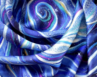 100% Silk Tarot Cloth - Cosmic Ocean - Altar Cloth, Tarot Cloth, Silk Tarot Cloth, Silk Altar Cloth, Tarot Cards Cloth, Tarot Deck, Tarot