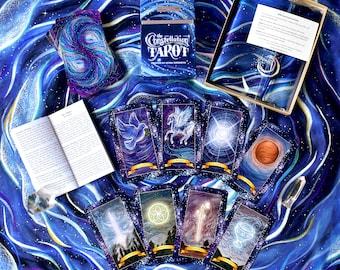 The Constellation Tarot Set - SAVE 10% - Tarot Deck & Altar Cloth - Tarot Cards, Tarot, Tarot Card Deck, Tarot Cloth, Astrology Tarot Cards